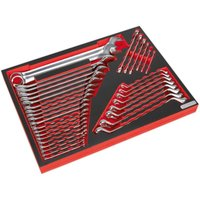 TBTP03 Tool Tray with Spanner Set 35pc - Sealey