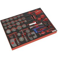 TBTP10 Tool Tray with Brake Service Tool Set 42pc - Sealey
