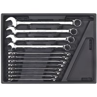 Sealey Tool Tray with Combination Spanner Set 12pc - Metric