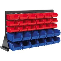 TPS1218 Bin Storage System Bench Mounting 30 Bins - Sealey