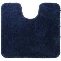 """Pedestal Mat """"Angora 55x60 cm Blue - Blue - Sealskin"""