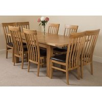 Modern Furniture Direct - Seattle Solid Oak 150cm-210cm Exte