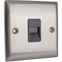 PPSKTELS-BS Secondary Telephone Outlet Brushed Steel - SMJ