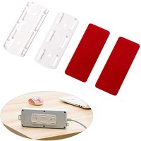 Self Adhesive Power Strip Fixator Socket Holder Mount Punch-Free Wall-Mounted Desktop Socket Fixer Organizer,model:White