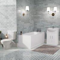 Neshome - Senore 1700 Bath Vanity WC and Toilet Bathroom Suite