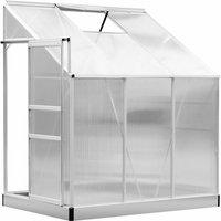 Serre de jardin adossée aluminium polycarbonate 2,49 m² dim. 1,9L x 1,31l x 2,15H m avec fenêtre et porte coulissante - Outsunny