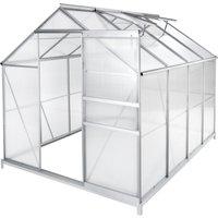 Serre de Jardin Polycarbonate 4,41 m² + 1 Embase en Acier - TECTAKE