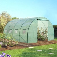 Serre tunnel de jardin 12 m² verte gamme maraichère ZEBRA 4x3M - IDMARKET