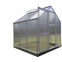 Serre Jardin Polycarbonate - DIAMANT 66 - 3,7M² - GRIS - CHALET & JARDIN