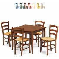RUSTY Dining Set with 4 Chairs and Table for Kitchen Pub