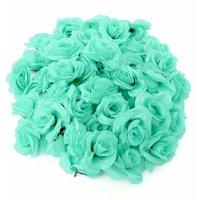 Set / 50Pcs DIY Artificial Rose Flower Ball Wall Arch Wedding Party Decor Polyester Silk Synthetic WASHED