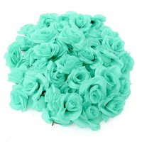 Set / 50Pcs DIY Artificial Rose Flower Ball Wall Arch Wedding Party Decor Polyester Synthetic Silk