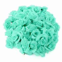 Set / DIY 50Pcs Rose Artificial Flowers Ball Wall Arch Wedding Party Decor Polyester Silk Synthetic Mohoo