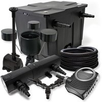Wiltec - Set filtro per stagni a 12000l 18W Depuratore 70W Pompa 25m Tubo Skimmer CSP250 Fontana