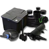 Wiltec - Set filtro per stagni a 12000l 24W Depuratore CTF ECO 20W Pompa 25m Tubo Skimmer CSP250 Fontana