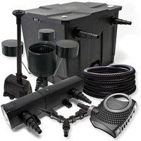 Set filtro per stagni a 12000l 36W Depuratore 70W Pompa 25m Tubo Skimmer CSP250 Fontana - WILTEC