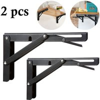 Livingandhome - Set of 2 Folding Wall Brackets Table Shelves Holder, 25x15CM