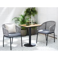 Beliani - Set of 2 Garden Chairs Grey PALMI