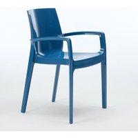 Set of 22 CREAM Grand Soleil Dinner Chairs Armrests Polypropylene Indoor Bistro | Blue