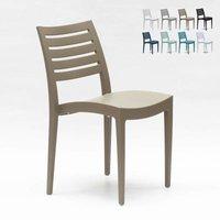 Set Of 24 Design Polypropylene Chairs for Restaurants Bars FIRENZE | Cream - GRAND SOLEIL