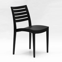 Set Of 24 Design Polypropylene Chairs for Restaurants Bars FIRENZE | Black - GRAND SOLEIL
