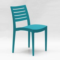 Set Of 24 Design Polypropylene Chairs for Restaurants Bars FIRENZE | Blue - GRAND SOLEIL