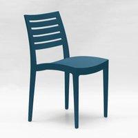 Set Of 24 Design Polypropylene Chairs for Restaurants Bars FIRENZE | Dark Blue - GRAND SOLEIL