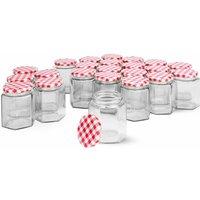 Set of 24 Hexagonal Mouth Glass Jam Jars | MandW