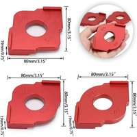 Set of 3 Radius Jig Router Templates, Aluminium Alloy Routing Rounded Corners Router Bit Templates for Woodworking Routing, R10 R15 R20 R25 R30 R35