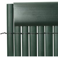 Set of 5 Garden Privacy 1M Profile Cover for Mat Screen Border Panel Fence, Green - LIVINGANDHOME