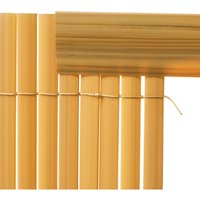 Set of 5 Garden Privacy 1M Profile Cover for Mat Screen Border Panel Fence, Yellow