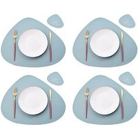 Set of 8 table sets for placemats, tableware, heat-resistant, non-slip, washable, heat-resistant, kitchen table sets, Nordic style table sets (table
