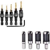 Perle Raregb - Set of Hexagonal Wood Milling Drills, Claw Type, Barrel Type, Cork Wick, Combined Tool, Foret, Combined Tool (4PC 4PC Claw Line Forest