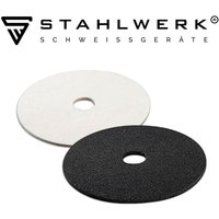 Set: STAHLWERK polishing disc fleece + STAHLWERK grinding disc nylon felt for an excellent grinding pattern