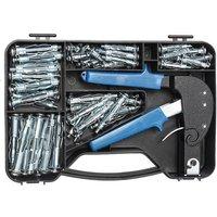 Set Tool Kit M4-M6 Mix Expansion Screws Robust Mixing Hollow Wall Anchor Gun Tool Hasaki - KINGSO