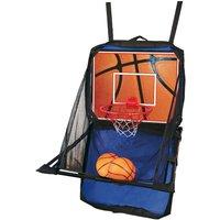 Set Valigetta Canestro Mini Basket Fissaggio su Porta Pompa Aria Palla Portatile - BRICOSHOP24