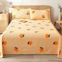 Sheet, pure cotton encrypted thick old linen bed linen cotton thick linen sheet three pieces double linen cotton