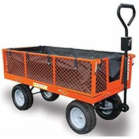 Sherpa Large Utility Garden Trolley Cart with Puncture Proof Tyres and Liner SLGT