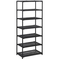 Shoe Rack Black 50x30x120 cm Poly Rattan - Black - Vidaxl