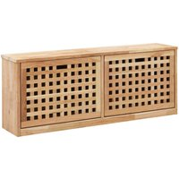 Shoe Storage Bench 94x20x38 cm Solid Walnut Wood - Brown - Vidaxl