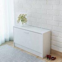 Zqyrlar - Shoe Storage Bench White 80x24x45 cm - White