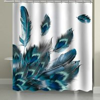 Shower curtain 180CM with 12 hooks