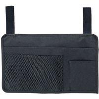 Azuma - Sun Lounger Organiser Bag 3 Pockets Black Water Resistant Holiday Garden 37cm