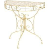 Betterlifegb - Side Table Vintage Style Half Round Metal 72x36x74 cm Gold11133-Serial number