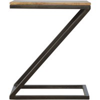 Side Table with Iron Base