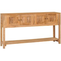 Sideboard 140x30x75 cm Solid Teak Wood - YOUTHUP