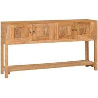 Sideboard 140x30x75 cm Solid Teak Wood - Brown - Vidaxl
