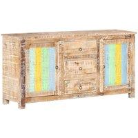 Sideboard 151x40x75 cm Rough Acacia Wood - Multicolour - Vidaxl
