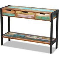 Sideboard 3 Drawers Solid Reclaimed Wood - ASUPERMALL
