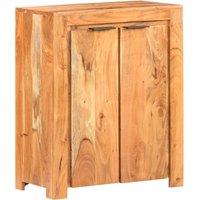 Zqyrlar - Sideboard 59x33x75 cm Solid Acacia Wood - Brown